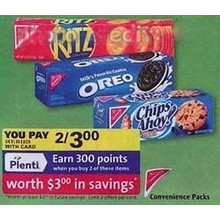 Chips Ahoy Convenience Packs 2/$3.00