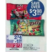 M&Ms Medium Bags 2/$3.00 After Coupon