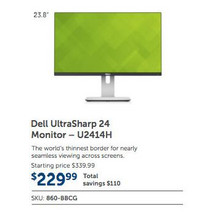 "Dell UltraShap 24"" Monitor (U2414H)"