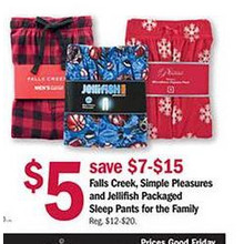 Falls Creek Packaged Sleep Pants