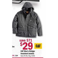 CAT Mens Bridger Insulated Jackets