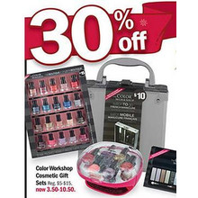30% Off Color Workshop Cosmetic Gift Sets