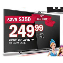 "Element 55"" 1080p 120Hz LED HDTV"