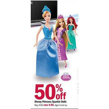 Disney Princess Sparkle Dolls