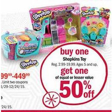 BOGO 50% Off Shopkins Toys (Assorted)