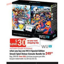 Wii U Smash Splat Deluxe Console Bundle
