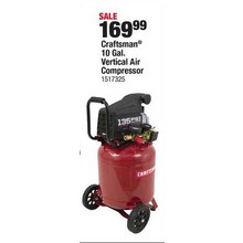 Craftsman 10-gal. Vertical Air Compressors w/ Inflation Blow Gun