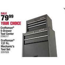 Craftsman 5-Drawer Steel Tool Center