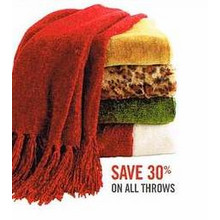 Throws (Assorted) 30% Off