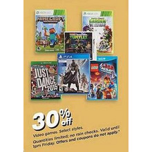 Video Games (Select) 30% Off