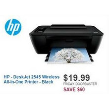 HP DeskJet 2545 Wireless All-In-One Printer (Black)