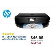 HP ENVY 4520 Wireless All-In-One Printer (Black)