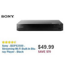 Sony Streaming Wi-Fi Built-In Blu-ray Player (BDPS3500)