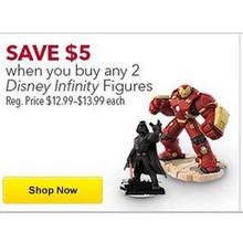 Buy 2 Disney Infinity Figures $5 Off