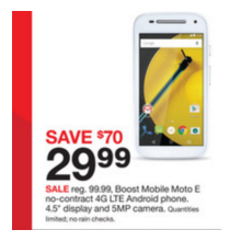 "Boost Mobile 4.5"" Moto E No-Contract Android SmartPhone"