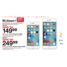 iPhone 6s Plus 16GB $249.99 w/ Qualifying 2-Yr. Plan