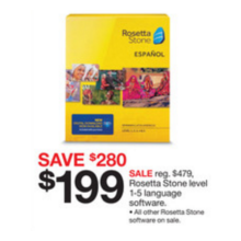 Rosetta Stone Level 1-5 Language Software