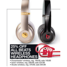 Beats Wireless Headphones (Assorted) 25% Off