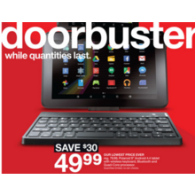 "Polaroid 9"" 4.4 Android Tablet w/ Wireless Keyboard"
