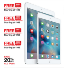 Apple iPad mini 4 + Free $100.00 Target GiftCard Starting at $399.00