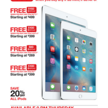 Apple iPad Air + Free $100.00 Target GiftCard Starting at $399.00