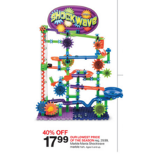 Marble Mania Shockwave Marble Run