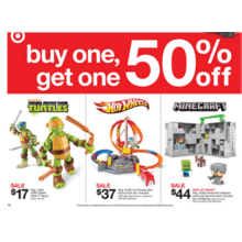 Toys (Select) BOGO 50% Off