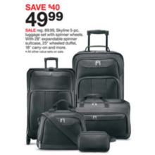 Skyline 5-pc. Luggage Set w/ Spinner Wheels