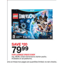 Lego Dimensions Starter Packs (Assorted)