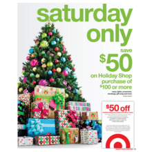 Spend $100.00+ Get $50.00 Off Holiday Shop Purchase