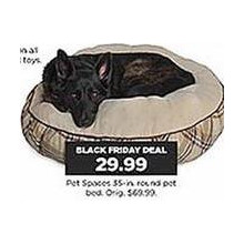 Pet Spaces 35-in. Round Pet Bed