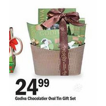 Godiva Chocolatier Oval Tin Gift Set