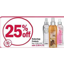 25% Off Bodycology Products (Assorted)