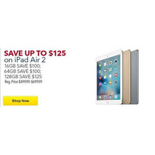 iPad Air 2 128GB $125 Off