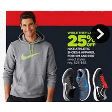 Nike Athletic Apparel for Him - 25% OFF