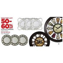 Clocks - 50-60% OFF