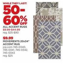 Accent Rugs - 50-60% OFF