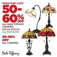 Dale Tiffany Lighting - 50-60% OFF