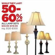 Lamp Sets - 50-60% OFF