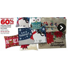 Holiday Decorative Pillows - 60% OFF
