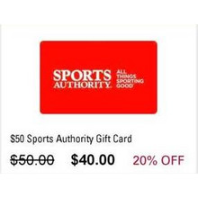 $50 Sports Authority Gift Card