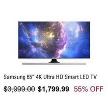 "Samsung 65"" 4K Ultra HD Smart LED TV"