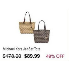 Michael Kors Jet Set Tote (Brown)