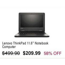 "Lenovo ThinkPad 11.6"" Notebook Computer"