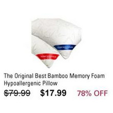 The Original Best Bamboo Memory Foam Hypoallergenic Pillow