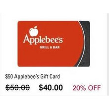 $50.00 Applebee's Gift Card