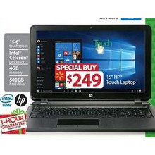 "HP 15.6"" Intel Celeron, 4GB RAM and 500GB HDD"