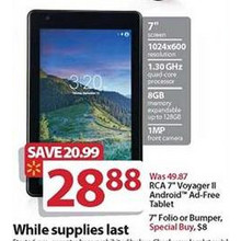 RCA 7-in. Voyager II Android Ad-Free Tablet