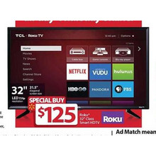 "Roku 32"" 720p Smart LED HDTV"