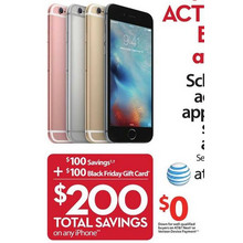 Apple iPhones + $100 Gift Card $200 Off